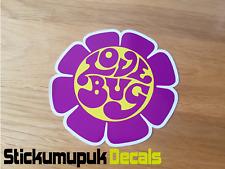 Love Bug Flower Camper Van Sticker Colour Choice Car Van Bug Dub Camper 95mm