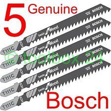 5 x Genuine Bosch Fast Cut Wood Jigsaw Blades for DeWalt, Makita, Skil, AEG, Elu