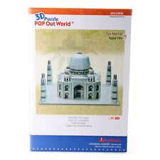 The Taj Mahal Pop Out World 35 Peice 1:500 Scale 3D Puzzle DIY Model Hobby Kit