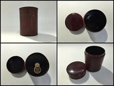 Japanese Wooden Tea Caddy Chaire Vintage Sencha Matcha Powder Lacquer Ware C063