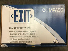 Compass LED Emergency Exit Sign Red Letters Brand New