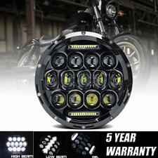 """7"""" LED Projector Black Headlight DRL for Harley Street Glide Softail FLHX FLD"""