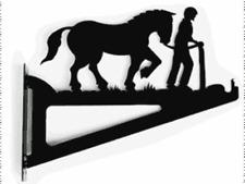GARDEN GIFT Man and Shire Horse Hanging Basket - Birdfeeder Bracket