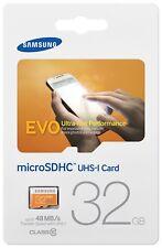 Samsung 32GB MicroSD HC Evo Class 10 UHS-1 Mobile Memory Card 32G MB-MP32D