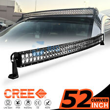 52INCH 700W CREE LED Curved Work Light Bar Flood Spot Driving Offroad 4WD Truck