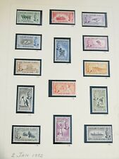 Falkland Island 1952 KGVI issue set Sc #107-120 Most NH on stock page