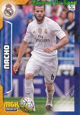 334 NACHO ESPANA REAL MADRID CARD MGK LIGA 2017 PANINI