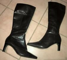 $300 JANE DEBSTER brown leather REHEARSE BOOT 38 7 / 7.5 xc BUY3+ITEM= FREE POST