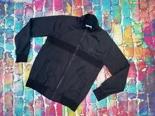 AL6 Converse Mens Zip Up Jacket Hoodie Black Mens Small