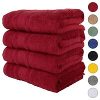NEW BURGUNDY Color ULTRA SUPER SOFT LUXURY PURE TURKISH 100% COTTON BATH TOWELS