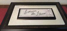 "Mirrored Wall Decor ~ Lotion de Fleur Paris ~ French Bath 11"" x 17"" From Bbb"