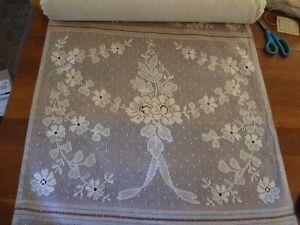"""Balmore bone / ivory Scottish lace 95 % cotton bolt lot 28 """" x 20 Yards Yardage"""