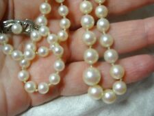 """EXQUISITE HIGH QUALITY AKOYA GRADATED CULTURED PEARLS 24"""""""