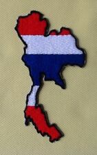 THAILAND THAI MAP COUNTRY FLAG SIAM BADGE IRON SEW ON PATCH