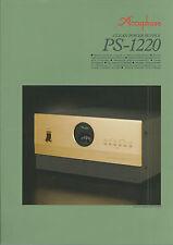 Accuphase PS-1220 Katalog Prospekt Catalogue Datasheet Brochure