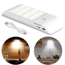 12 LED Night Light Motion Sensor Wireless Wall Closet Cabinet Wardrobe Stair