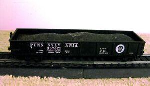 HO Scale Pennsylvania RR Gondola w/Coal Load - Nice