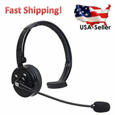 Wireless Bluetooth Noise Cancelling Headset Over the Head Boom w/Mic for Trucker