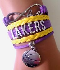 Los Angeles Lakers Infinity Charm Bracelet NBA Basketball Sport Team QUALITY USA