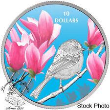 Canada 2017 $10 Birds Among Nature's Colours - Chickadee Silver Coin