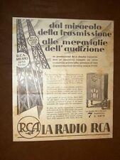 Pubblicità del 1931 La radio RCA 48 con Radiotron