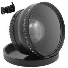 High Quality 0.45x wide angle Lens 58mm + Detachable Marco Lens for Nikon Canon