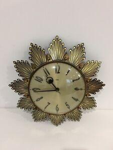 Metamec Vintage Star burst / Sun burst Clock