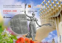 Spain 2018 MNH Exfilna 2018 Seville Ntl Stamp Exhibition 1v M/S Flowers Stamps