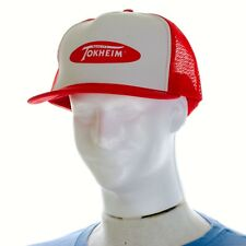 Tokheim Quality Pumps Trucker Snapback Hat Mesh Gas Parts Red & White Advertise