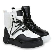 Damen Stiefeletten Warm Gefütterte Winter Boots Sneaker Stiefel 832574 Schuhe