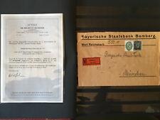 Deutsches Reich Dienst MiNr. 113 MIF Attest Dr. Oechsner BPP