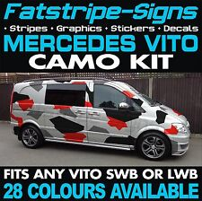 MERCEDES VITO CAMO KIT GRAPHICS STICKERS DECALS CAMOUFLAGE SWB LWB DAY VAN SPORT