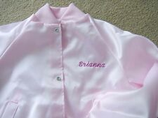 Personalized Embroidered Girls Youth Sizes Small Medium Large Satin Jacket