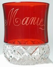 Duncan's No. 27 aka: Block Band - Ruby Stained Tumbler