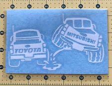 MITSUBISI PISS ON TOYOTA Truck Vinyl Decal Sticker Vehicle Toolbox Window 416
