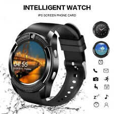 2019 V8 Smart Bluetooth Watch Touchscreen Fitness Tracker Wrist for iOS/Android