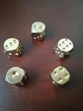 13mm Messing Würfel Spielwürfel Metallwürfel Gesellenstück Bar Party Spielzeug