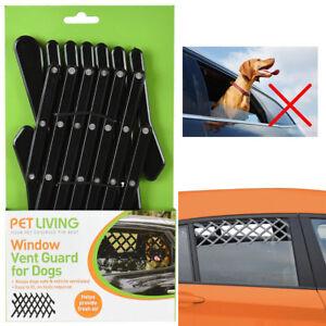 WINDOW VENT GUARD MESH DOG PET TRAVEL REAR CAR UNIVERSAL ADJUSTABLE