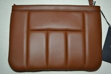 Dunhill Small Concours Zip Pouch Tan Brand New