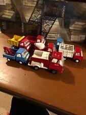 Vintage 1970s Pressed Steel 7 Toy Trucks