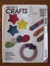 McCALL'S PATTERN - 5697 CRAFTS APRON TIE CAP CUSHION PET BED LOG CARRIER UNCUT