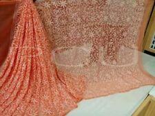 Diwali Indian Bollywood Lucknow ChikanKari Georgette Saree Wedding Tepchi Work