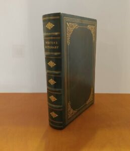 WEBSTER'S SEVENTH NEW COLLEGIATE DICTIONARY 1963 LEATHER BOUND