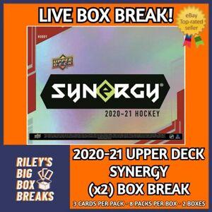 20-21 UPPER DECK SYNERGY (x2) HOBBY BOX BREAK #102 -  Edmonton Oilers
