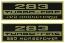 Chevrolet 283 Turbo-Fire 220 HP Valve Cover Decal Set