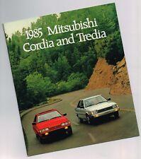 1985 MITSUBISHI CORDIA /TREDIA Catálogo/ CATALOG: L, LS, turbo, Coupe ,