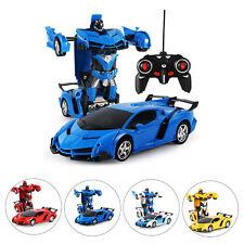 RC Transformer Spielzeug Rennauto Roboter mit Fernbedienung Motor Wagen Geschenk