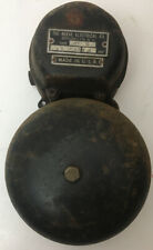 Antique Reeve Electric Fire Alarm Bell Firehouse HDW Hardware Working USA Made