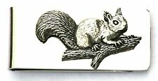 Squirell Pewter Motif Money Clip FREE ENGRAVING Shooting Gift Present Award