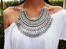 Womans Sahara Antalya coin statement Necklace Gypsy Boho Festival + Gift Bag